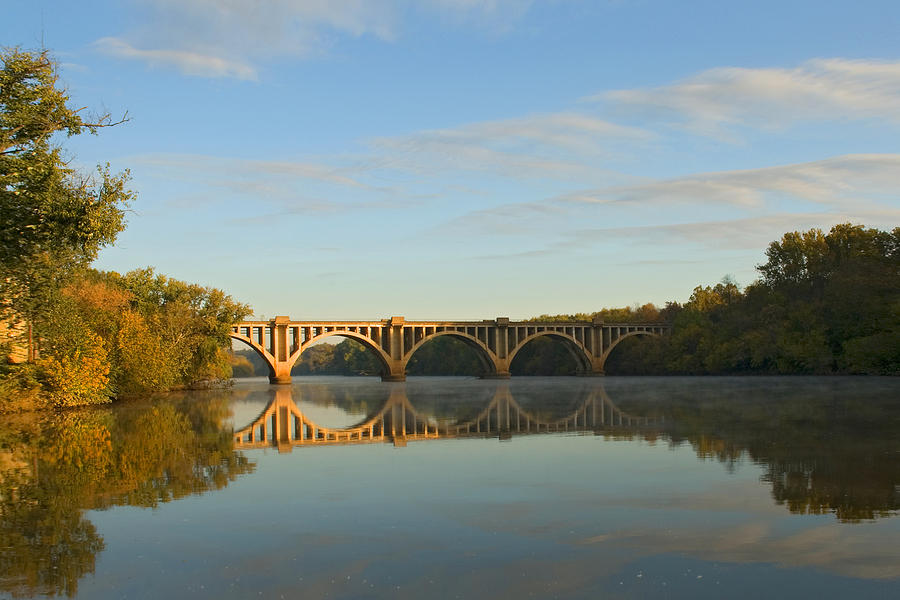 Bridge Photograph - Bridge At Sunrise by John Magor