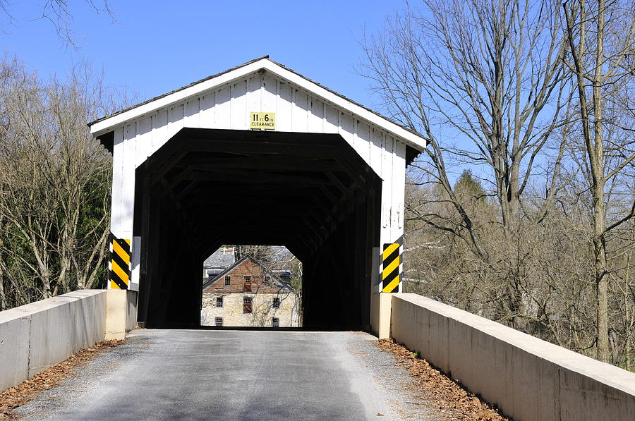 Covered Bridge Photograph - Bridge At The Mill. by David Arment