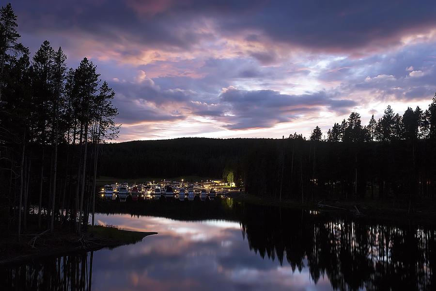 Yellowstone Photograph - Bridge Bay Sunset by Cynthia Bruner