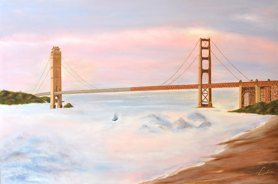 Ch Painting - Bridge by C H
