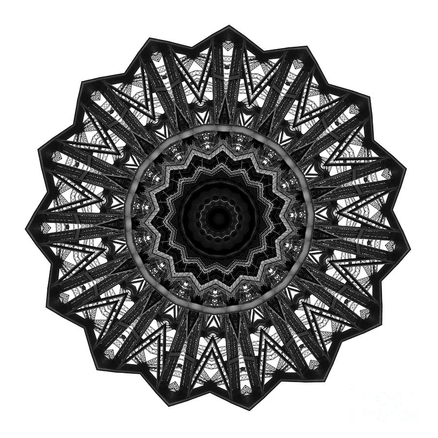 Bridge Construction Kaleidoscope By Kaye Menner Digital Art