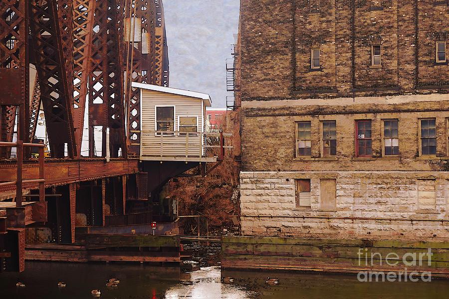 Bridge Digital Art - Bridge House by David Blank