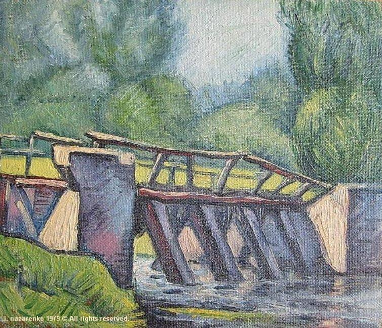 Landscape Painting - Bridge by Igor Nz