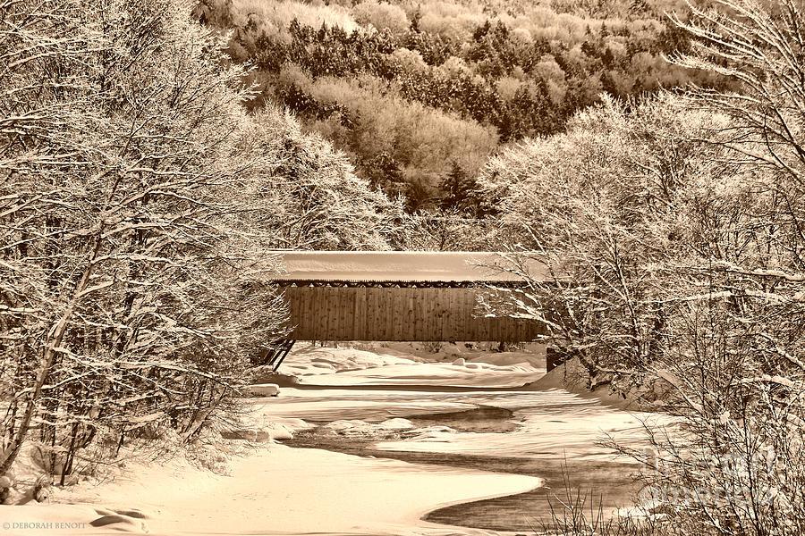 Vermont Photograph - Bridge In Sepia by Deborah Benoit