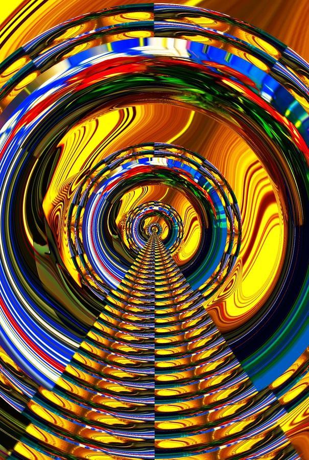 Surrealism Digital Art - Bridge by Jack Monninger