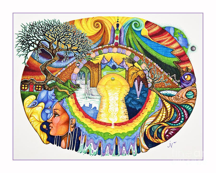 Colorful Drawing - Bridge by Jaeme Case