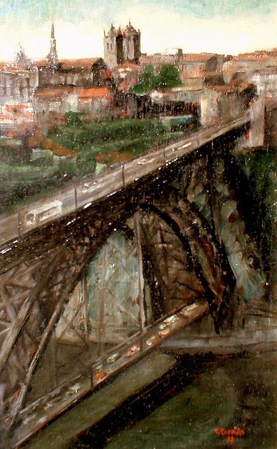 Porto Painting - Bridge Luis I-Oporto by Tomas Castano