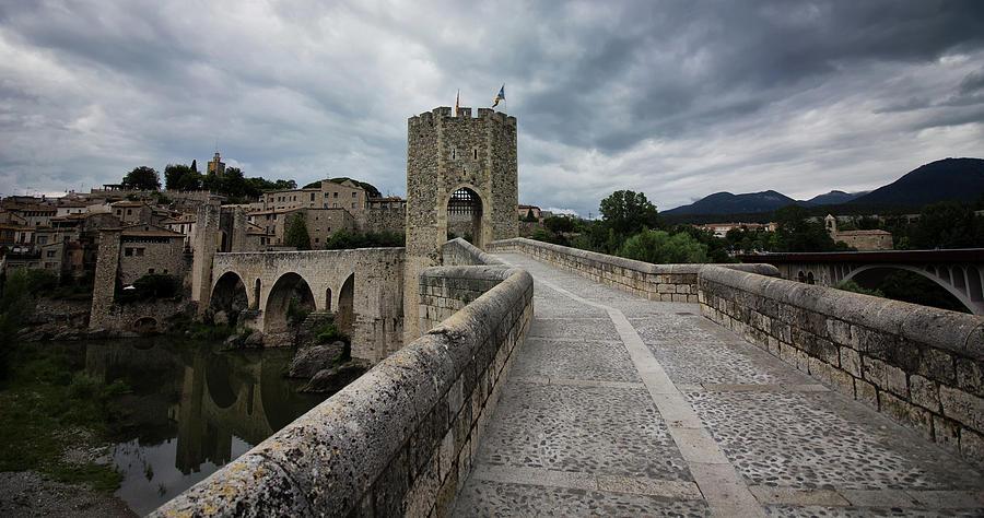 Besalu Photograph - Bridge Of Besalu, Girona Provence, Catalonia, Spain-2 by Oksana Bystritskaya