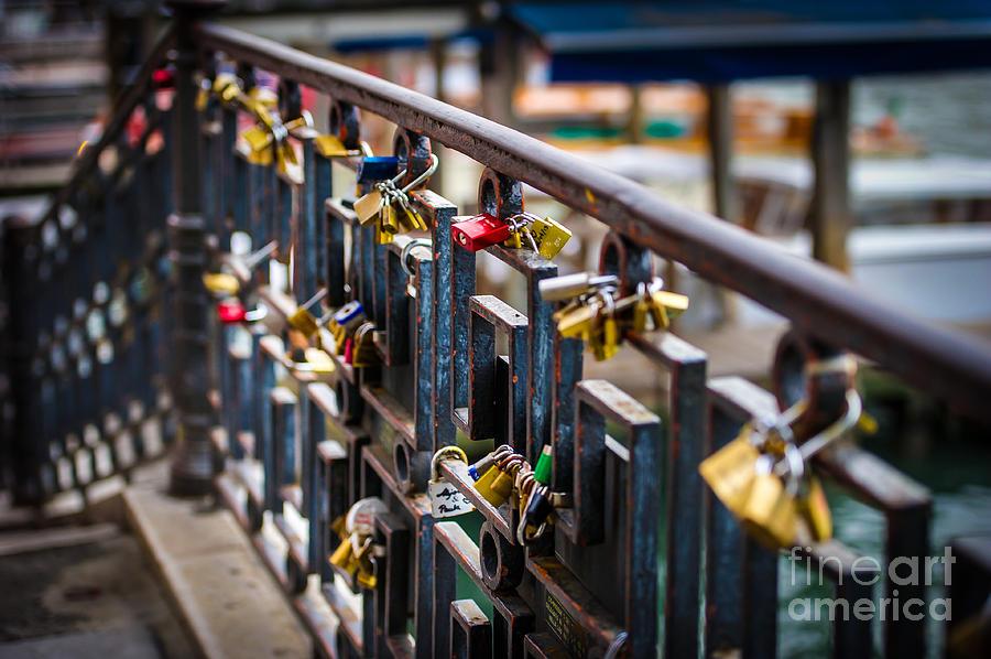 Venice Photograph - Bridge Of Love Venice by Ken Andersen