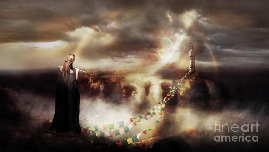 Bridge Of Prayers Mixed Media