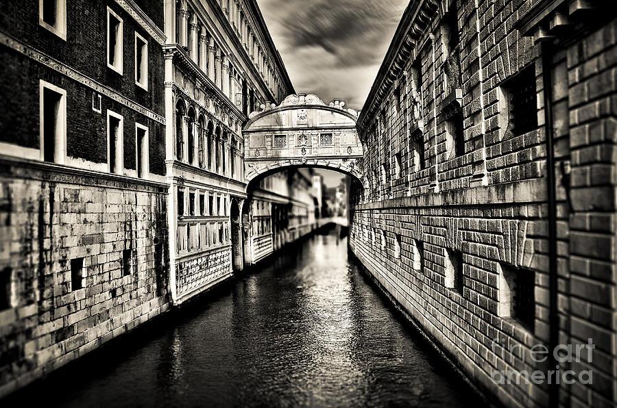 Bridge Photograph - Bridge Of Sighs by Alessandro Giorgi Art Photography