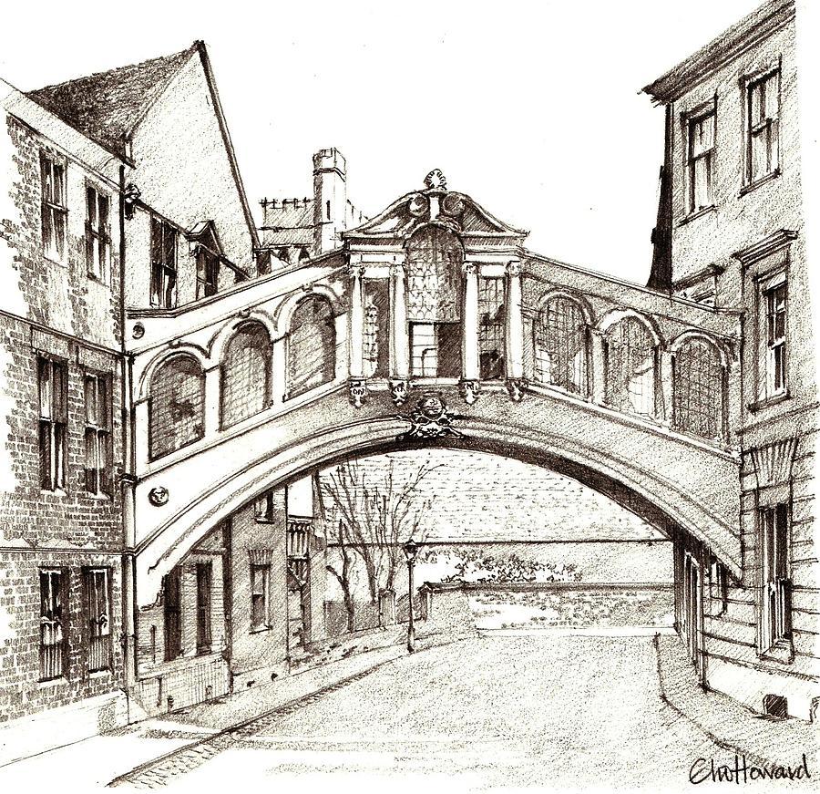 hertford bridge bridge of sighs oxford england drawing