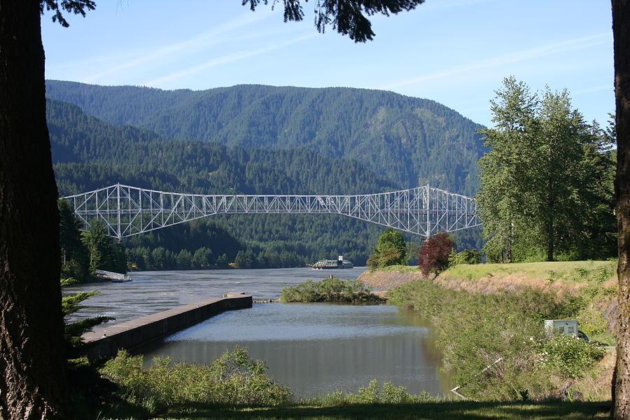Bridges Photograph - Bridge Of The Gods Br-4002 by Mary Gaines
