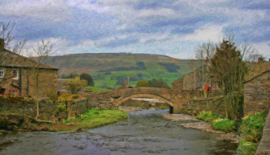 Bridge Painting - Bridge Over Duerley Beck - P4a16020 by Dean Wittle