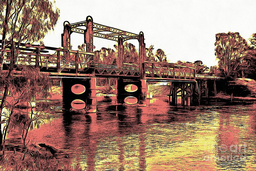 Bridge over Murray River by Fran Woods