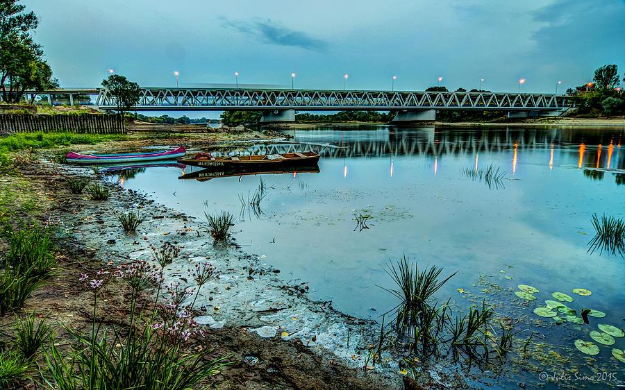 Bridge Over Serene River In Poland Digital Art