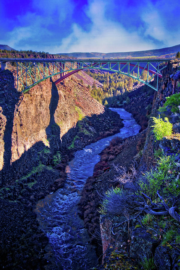 State Parks Photograph - Bridge Over The Crooked River Gorge by Lynn Bauer