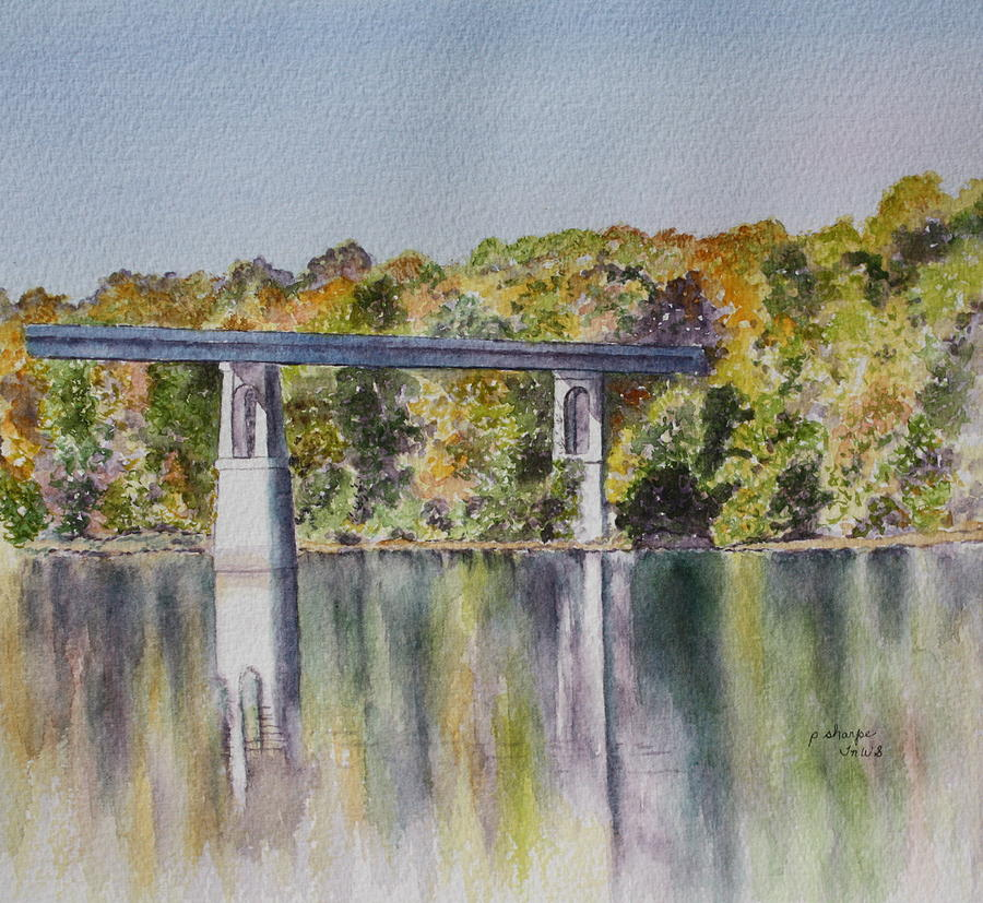 Landscape Painting - Bridge Over The Cumberland by Patsy Sharpe