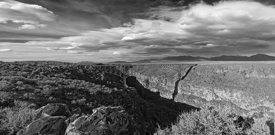 New Mexico Photograph - Bridge Over The Rio Grande by Gary Cloud