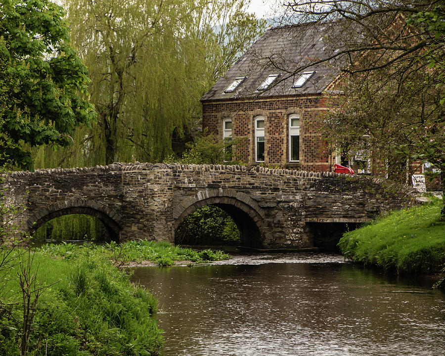 Clun Photograph - Bridge Over The River Clun by Edward Burchnall