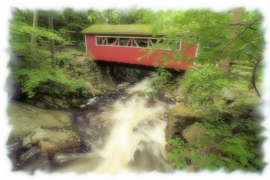 Covered Bridge Photograph - Bridge Over Troubled Water by Karol Livote