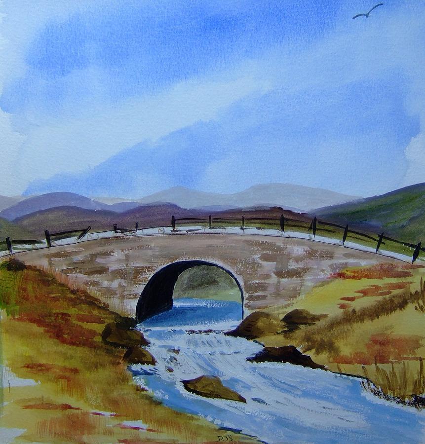 Bridge Over Water Painting