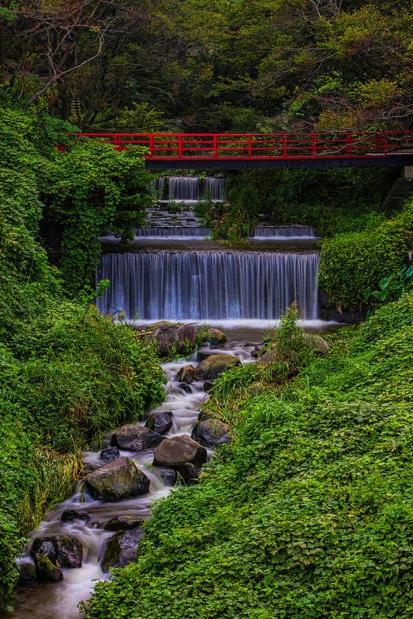 Bridge Photograph - Bridge Over Waterfall by Leonard Sharp