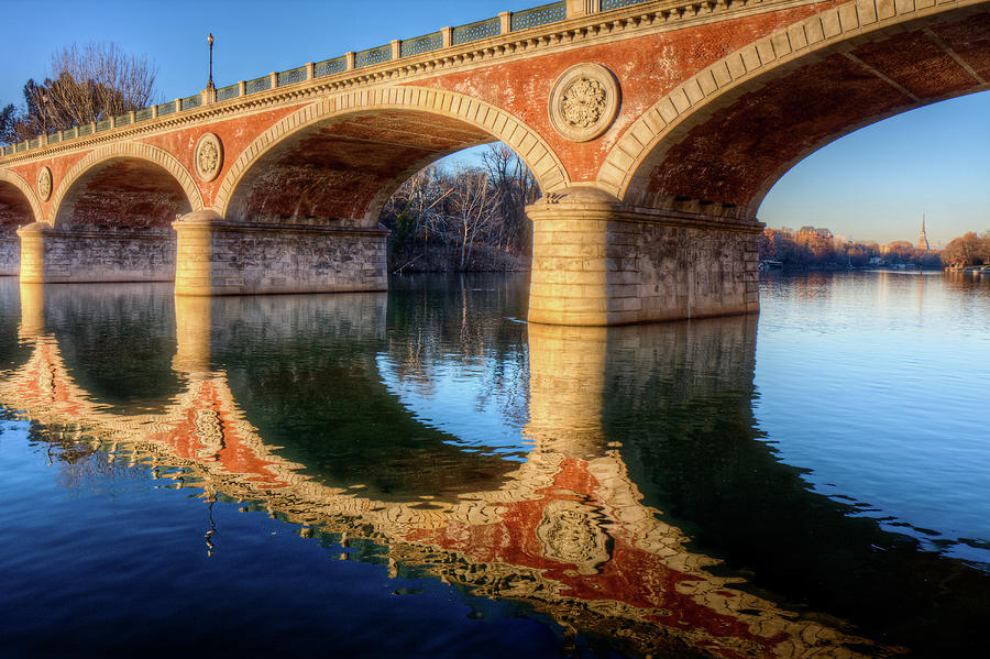 Horizontal Photograph - Bridge Reflection On River by Andrea Mucelli