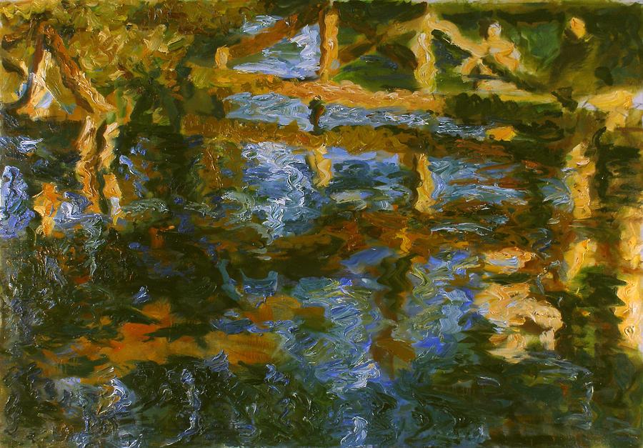 Landscape Painting - Bridge by Robert Nizamov