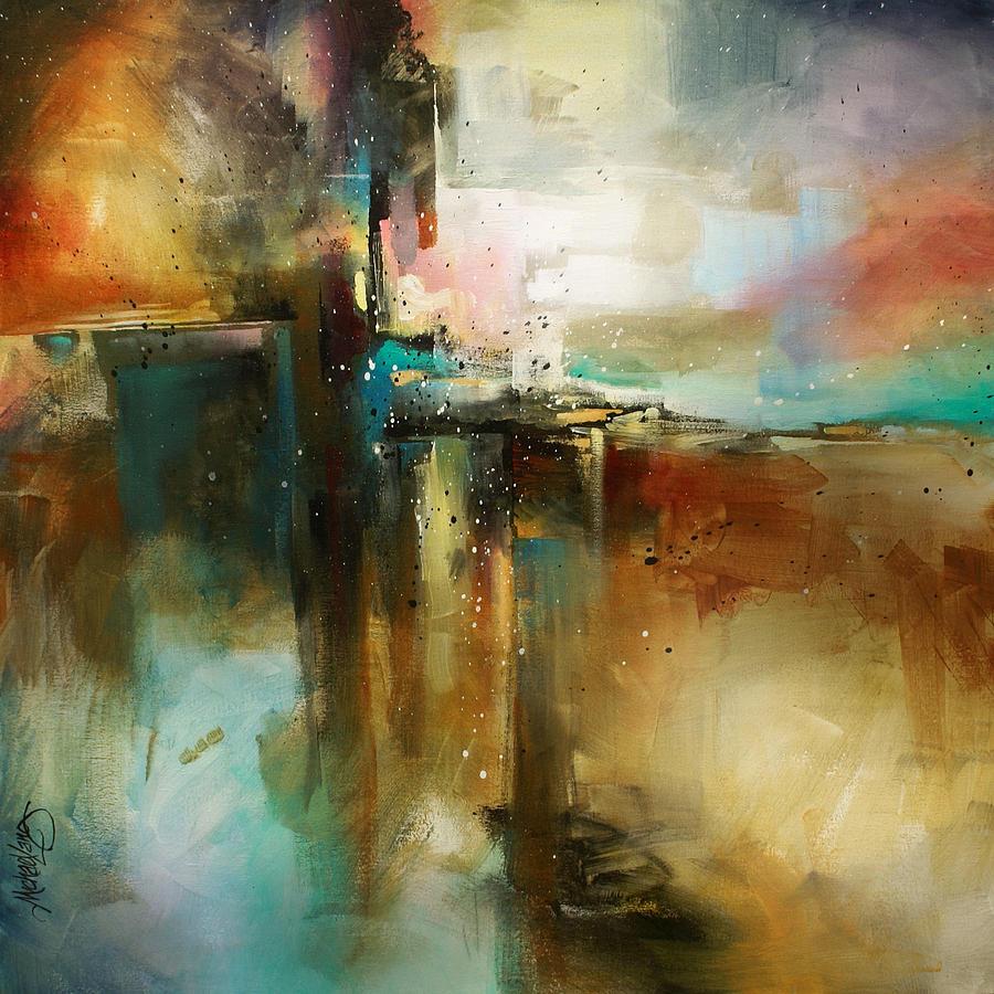 Random Design Painting - Bridge to Eternity by Michael Lang
