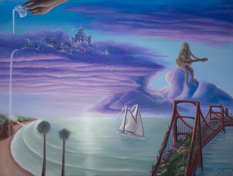 Neverland Painting - Bridge to Neverland by Brian Nunes