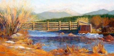 Bridge To The Rocky Mountains Painting by Alisa Raines