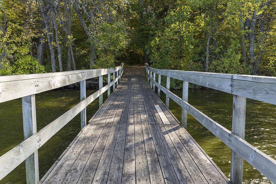 Bridge Photograph - Bridge To Woods 1 by John Brueske