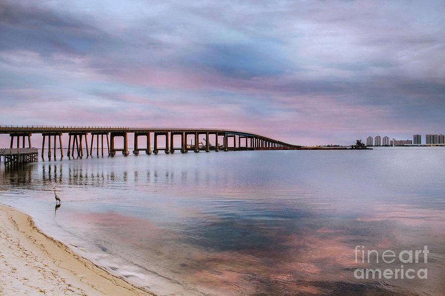 Bridge under the Sunset by Mechala Matthews