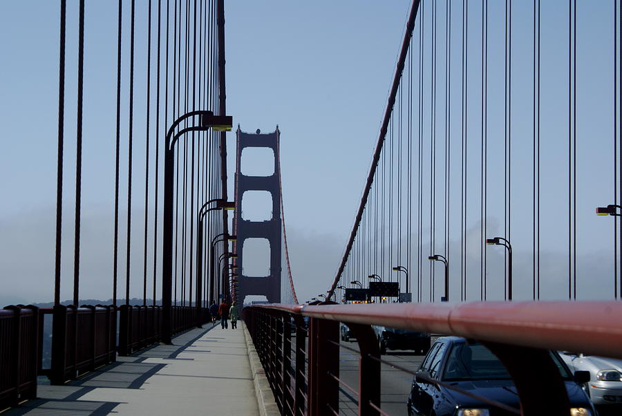 San Francisco Photograph - Bridge Walk by Sonja Anderson