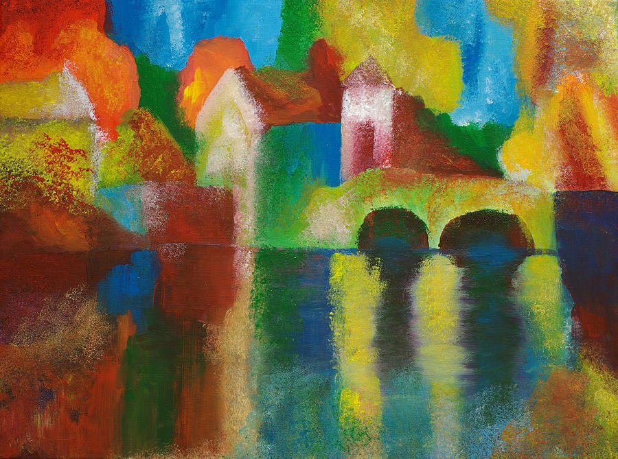 Landscape Painting - Bridge by Weily Jo
