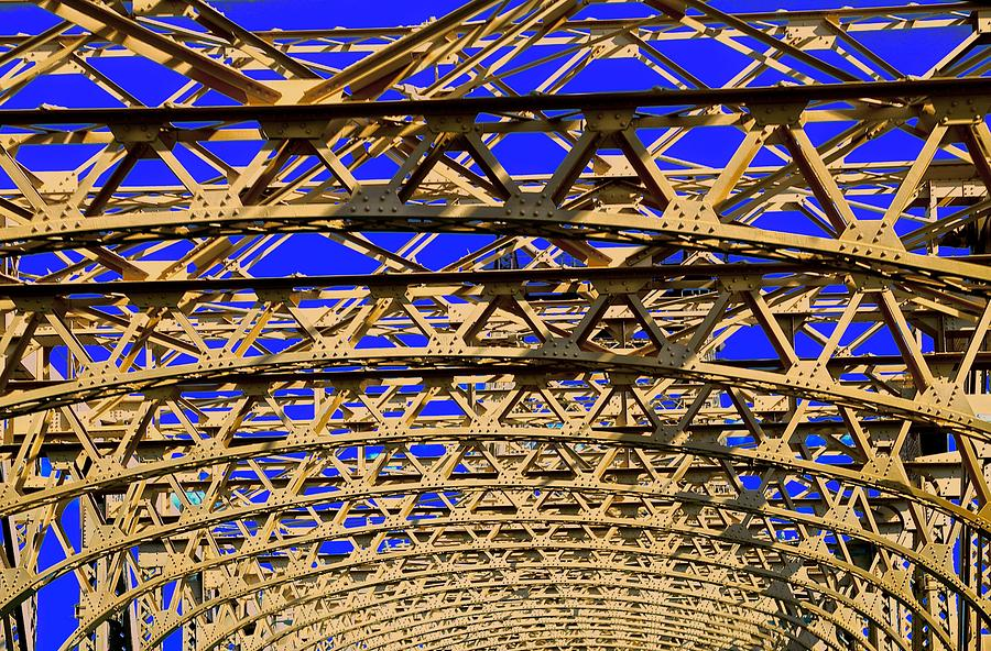 Geometry Photograph - Bridge Work by Gillis Cone