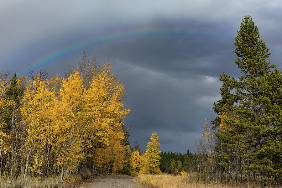 Bridger Teton Rainbow Photograph