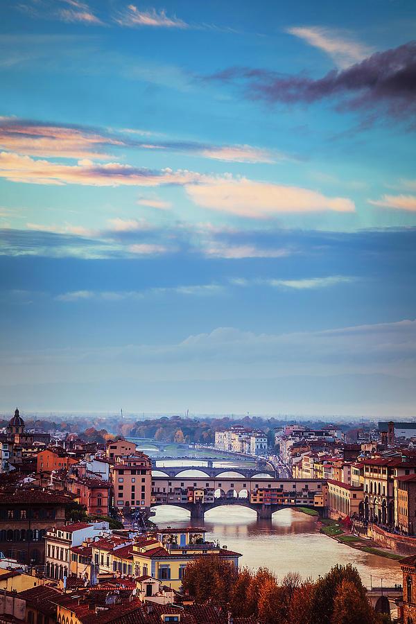 Bridges Of Florence Photograph