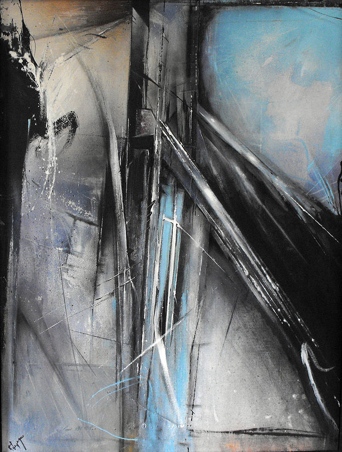 Acrylic Painting - Bridges Two by Ralph Levesque