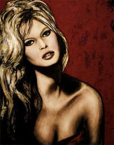 Bridget Bardot Digital Art by Lara Wolf