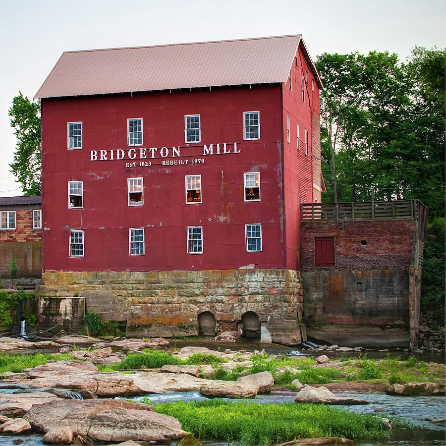 America Photograph - Bridgeton Mill - Indiana Square Art by Gregory Ballos