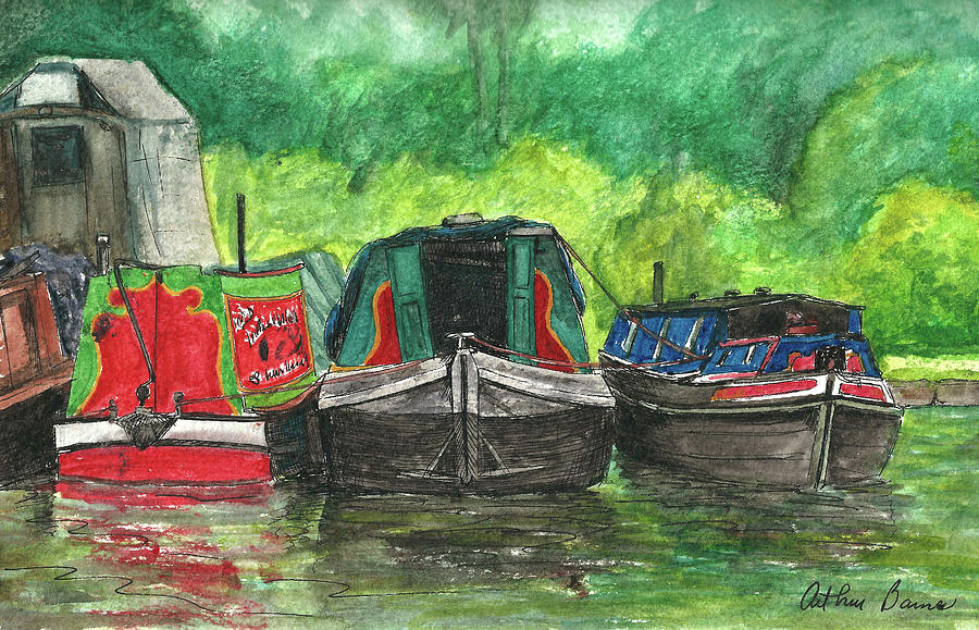 Bridgewater Canal Boats Painting