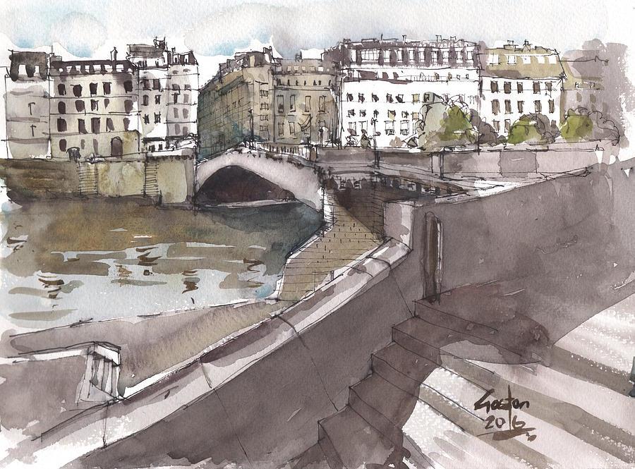 Paris Painting - Bridging The Seine by Gaston McKenzie