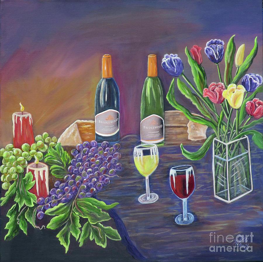 Still Life Painting - Bridlewood Brunch by Mikki Alhart