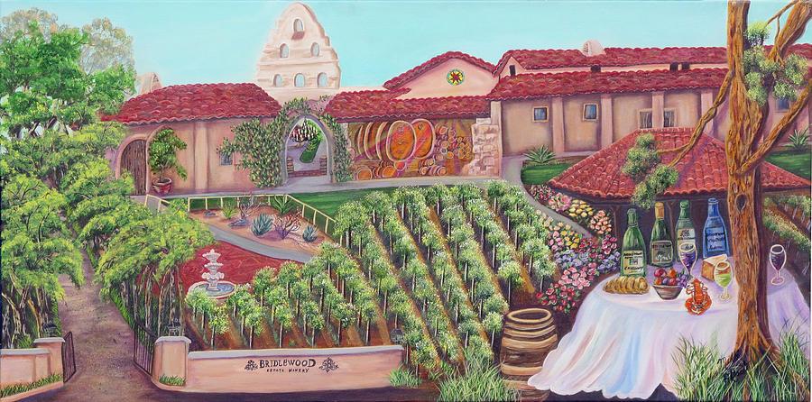 Winery Painting - Bridlewood Estates by Mikki Alhart