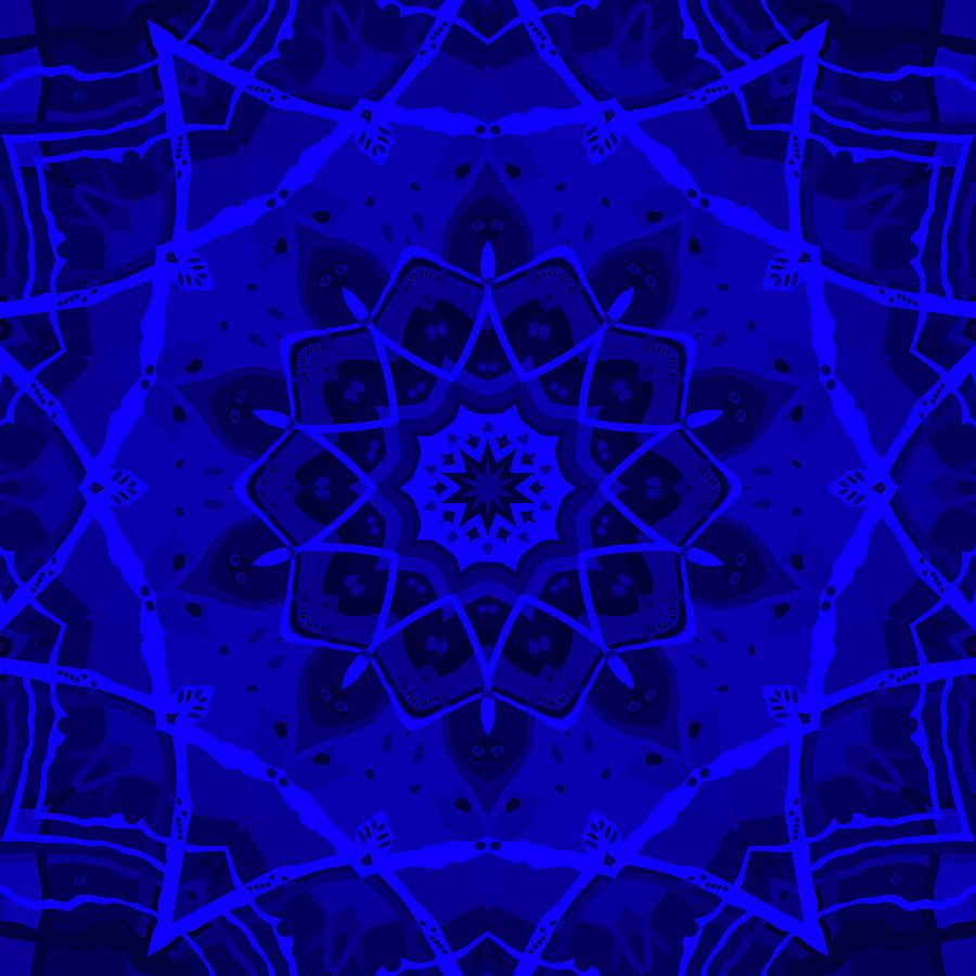 Digital Digital Art - Brigadoon No. 1 Neon Blue by Joy McKenzie