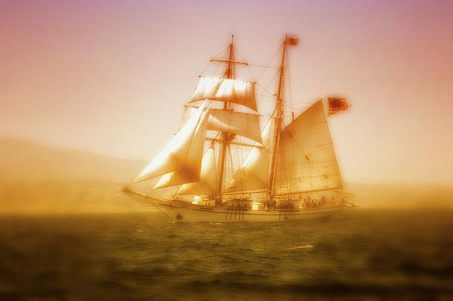 Boat Photograph - brigantine Augustus Mccrea by Gus McCrea