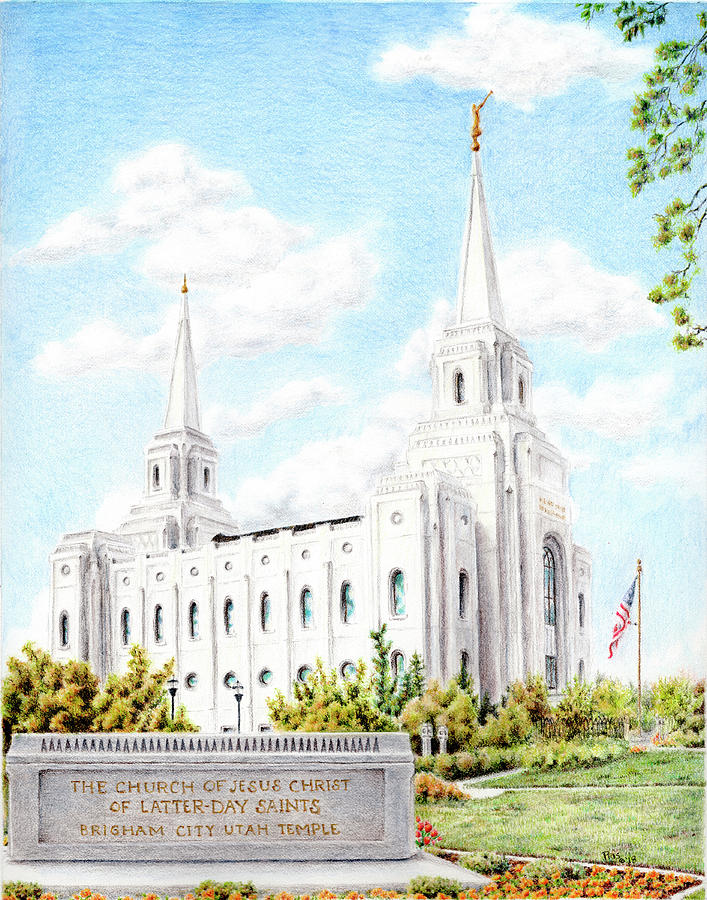 Brigham City Utah LDS Temple by Pris Hardy