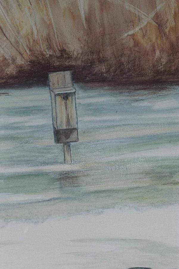 Winter Scapes Painting - Brigham Pond Duck Box by Debra Sandstrom